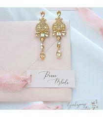 kolczyki perfect glam crystalized - gold