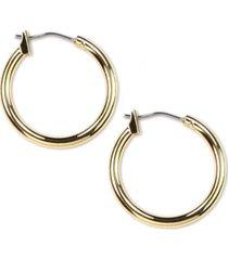"anne klein 3/4"" gold-tone hoop earrings"