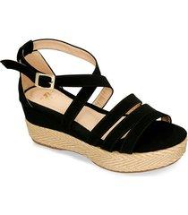 sandalias de plataforma negro bata hawi mujer