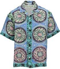 mystic paisley motif shirt