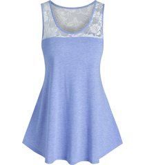 basic lace panel swing tank top