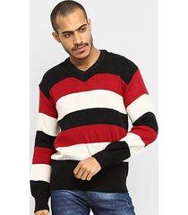 blusa tricot karian listrada manga longa masculina