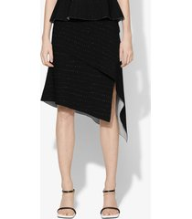 proenza schouler pointelle knit skirt black/off white l