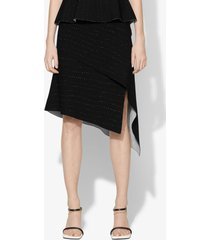 proenza schouler pointelle knit skirt black/off white m
