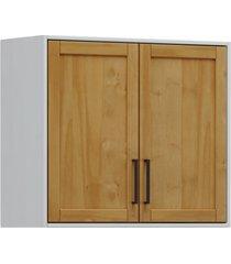 armário aéreo 2 portas finestra linha cristal cor cinza/ carvalho