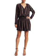 rails women's jasmine metallic striped blouson dress - midas stripe - size xs