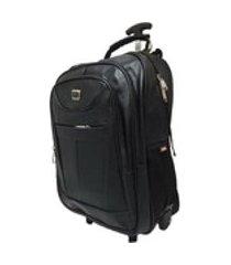mochila de rodinha notebook importada 28 litros puxador reforçado - af1806