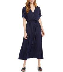 women's karen kane cuffed sleeve midi dress