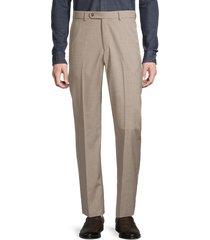 saks fifth avenue men's textured wool-blend dress trousers - navy - size 35