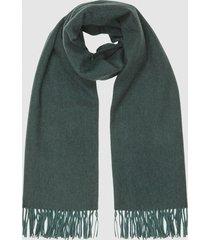 reiss jen - wool cashmere blend oversized scarf in teal, womens