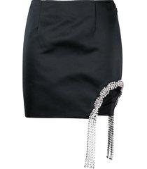 area crystal-embellished mini skirt - black