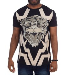 heads or tails 3d graphictiger face t-shirt