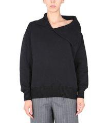 msgm sweatshirt with knit collar