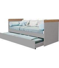bi-cama nuth branco cinza fosco/mezzo reller móveis - tricae