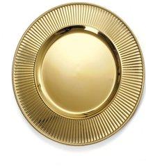 sousplat natalino decoração mesa efeito ondas ouro metálico
