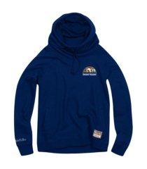 mitchell & ness women's denver nuggets funnel neck fleece hoodie