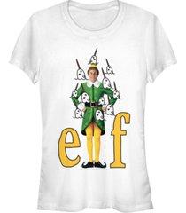 fifth sun elf buddy narwhals portrait women's short sleeve t-shirt