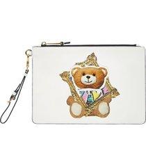 moschino frame teddy bear clutch