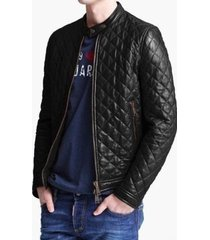 men slim fit lather jacket  men quilted leather jacket, mens jacket leather