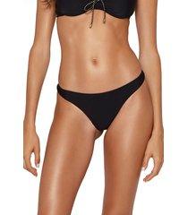 vix swimwear solid bikini bottoms, size medium in black at nordstrom