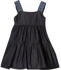 fendi blue cotton denim dress