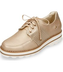 zapatos de cordón dorado bata virgilio r mujer