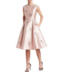farrah floral embellished fit-&-flare dress