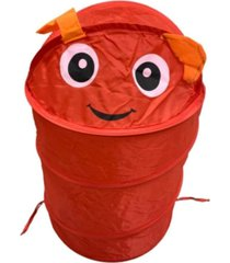 cesto organizador roupa suja brinquedos dobrã¡vel infantil vermelho - multicolorido - dafiti
