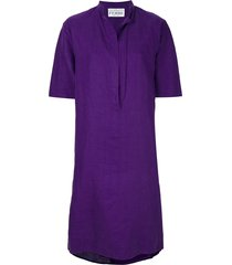 gianfranco ferré pre-owned short tunic dress - purple