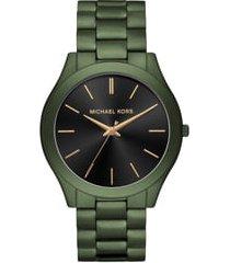 men's michael michael kors slim runway bracelet watch, 45mm