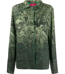 f.r.s for restless sleepers gradient nature jacket - green