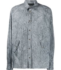 mr & mrs italy coated shirt - grey