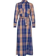 nonie long dress maxi dress galajurk multi/patroon second female