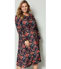 maxi-jurk sara lindholm zwart::oranje