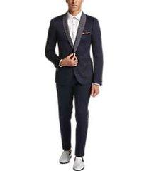 paisley & gray slim fit dinner jacket navy diamond