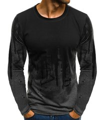 ink art paint print long sleeve t-shirt