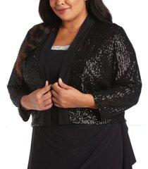 r & m richards plus size embellished jacket