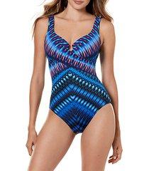 marrekech escape print one-piece swimsuit