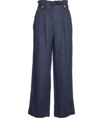 elsa linen trousers wijde broek blauw morris lady