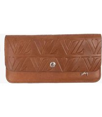 billetera porta chequera de cuero vintage