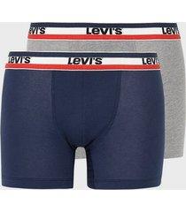 levis levis men sprtswr logo boxer brief 2p boxershorts blå