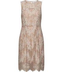 dress knälång klänning beige rosemunde