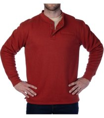 smith's workwear men's thermal knit henley pullover