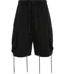 jw anderson oversized drawstring cargo shorts - black