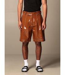 gcds short gcds bermuda shorts in shiny pvc with stitching