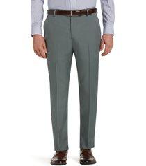 jos. a. bank men's traveler performance tailored fit flat front pants, dark grey, 40x34