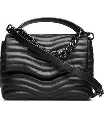 mab quilt top handle satchel bags small shoulder bags - crossbody bags zwart rebecca minkoff