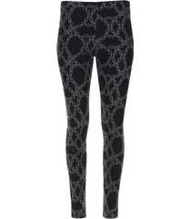 leggings negro estampado cadenas color negro, talla l