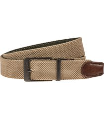 men's nike reversible g-flex woven belt, size large - khakicargo