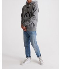 superdry men's brand language city hooded sweatshirt